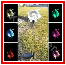 1-Piece Solar Acrylic Pig Garden Stake Pathway Lawn LED