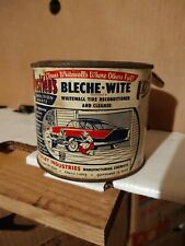 Vintage Westley's Bleche-White WAX Tin Container Hardtop Car Whitewall Tire