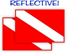 Reflective Scuba Diving Gear Flag Stickers   Dive Flags Decals Labels Waterproof