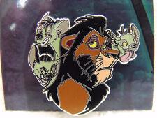 2013 Disney Booster Pin Villains & Sidekicks Lion King Scar Shenzei Banzai & Ed