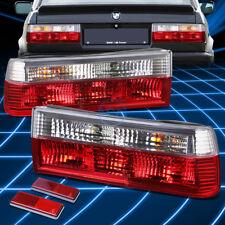 For BMW 83-91 E30 3-Series/M3 Pair Full LED Tail Light Brake/Reverse Lamp Chrome