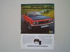 advertising Pubblicità 1972 OPEL MANTA SR