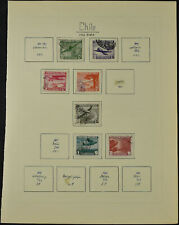 Chile 1941-1950 Used Page Of Stamps #V10655