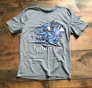 Arizona Jens Co. Kids T Shirt-Children's-Gray-Size XL-Turn It Up-Lion-Headphones