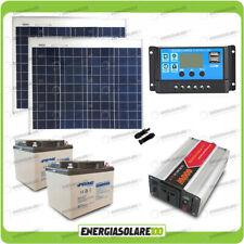 Photovoltaic Solar kit panel 100W cottage 600W 24V 220V inverter battery 38Ah co