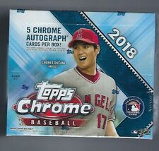 2018 Topps Chrome Hobby Jumbo Factory Sealed Box 5 AUTOGRAPHS