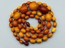Old, Real, Antique, Huge, Natural Amber Necklace / Chain / Prayer Beads / 53 Gr