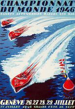 ART AD championnat du monde 1946 Boat Race Genève Poster Print