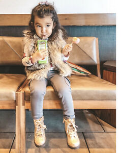 Toddler Girl Old Navy Cropped Faux Fur Vest 12-24 Months