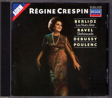 Regine CRESPIN BERLIOZ Les Nuits d'ete RAVEL Sheherazade POULENC PDO CD ANSERMET