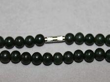 Antike dunkelgrüne Jade Kette Halskette selten, 82 cm Himmelsstein, langes Leben