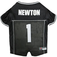 Cam Newton Carolina Panthers #1 Licensed NFLPA NFL Dog Jersey Black, Sizes XS-XL