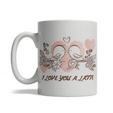 Lovely Birds - I Love you a Latte, Valentine's Day Gift,Ceramic Coffee Mug 11-oz