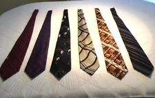 Stylist curated Lot of 6 Men's Vintage French Designer Ties