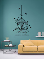 Family Forever Quote Wall Stickers Art Room Wall Decal Art Quote Decoration