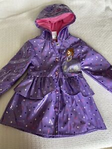 Disney Sofia The First Girls Size 3 Rain Coat