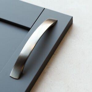 Brushed Nickel Bow Handle | Kitchen Cabinet, Drawer, Wardrobe, Pull Handles