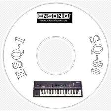 Ensoniq ESQ1 SQ80 Sound, Patch Library, Editors & MIDI Software CD - ESQ 1 SQ 80