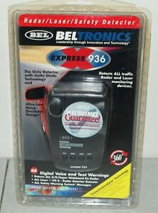 "New!! Sealed!! BELTRONICS ""Express 936"" TALKING RADAR/ LASER DETECTOR"