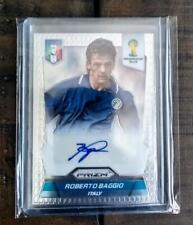 ROBERTO BAGGIO Panini Prizm 2014 World Cup Signed Autographed Card ITALY ITALIA
