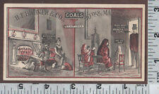 C552 H. F. Bruner coal co. trade card Philadelphia with & without before & after