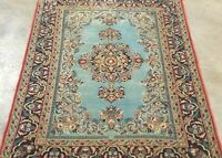 "ANTIQUE 1930 HAND-KNOTTED KERMANI-YAZDi VINTAGE WOOL MASTERPIECE RUG 3'4""X5'2'*"