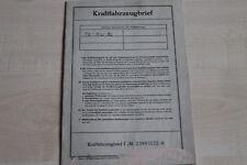 161784) DKW Junior de Luxe KFZ-Brief 10/1961