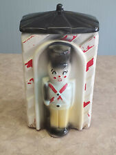 Vintage American Bisque Toy Soldier Sentry Cookie Jar - Marked Usa743