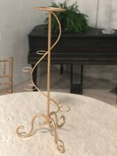 candelabra, gold, Pre-owned, flower decor, candle stand, center piece