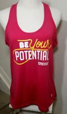 MPG Women's Sport Racer Back Tank Top Running Work out size Large color Pink