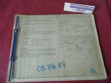 PARTS LIST D'OCCASION ORIGINE SANS PAGE COUVERTURE HONDA CB 750K7  A 49 EUROS