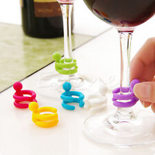 1Set Cute Dedicated Cup Wine Glass Silicone Label Rubber Marker Bottle Stopper