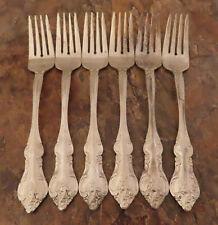 RSVP RXV2 Set 6 Salad Forks Gold Electroplate Stainless Flatware Lot E