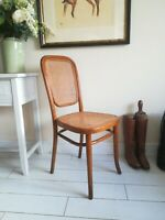 Antique Thonet Bentwood Rattan Extremely Rare - Model 392 Chair - J Tonks & Sons