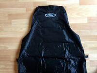 FORD TRANSIT MK8 VAN SEAT COVER PROTECTOR 100% WATERPROOF / HEAVY DUTY /  BLACK