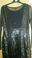 Chiffon Patternless Round Neck Long Sleeve Dresses for Women