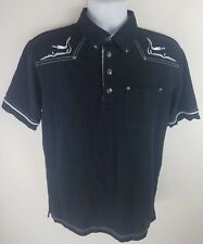 Hard Rock Hotel Macau City of Dreams Black Polo Shirt Guitar Plug Design Medium