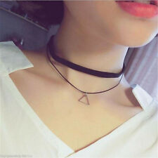 Korean Style Women Suede Leather Charm Bohemia Black Choker Necklace Jewelry