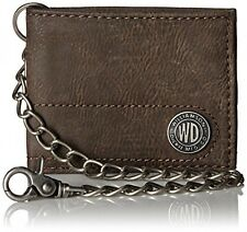 Dickies Men's Bifold Wallet with Chain, Brown, One Size