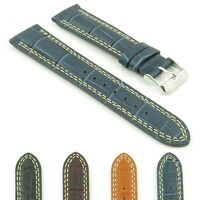 DASSARI President Croc Embossed Leather Watch Band Strap