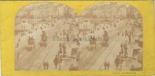 Paris Instantané Pont Neuf Paris France Stereo Vintage albumine ca 1865