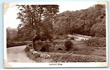 *Lathkill Dale Derbyshire England Old Country Road Vintage Photo Postcard C84