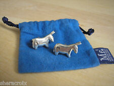 Mignon Faget retired Sterling Silver Animal Crackers DONKEY Democrat Cufflinks