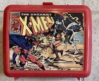 1992 Marvel Comics X-Men Red Lunch Box Plastic Lunchbox No Thermos Aladdin