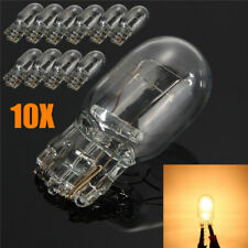 10* T20 7443 W21/5W R580 Glass Clear DRL Turn Signal Brake Stop Tail Light Bulbs