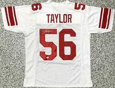 New York Lawrence Taylor Autographed Jersey Signed Beckett BAS COA Witnessed