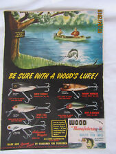 1948 VTG Orig Magazine Ad Fishing Wood's Lures Dipsy Doodle Quality Color