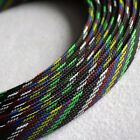 16mm x 5M Expandable Braided DENSE PET Mix Color 3 weave Sleeving Cable M507A QL