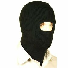 Black Acrylic Knitted Balaclava, Winter Hat, Cold Weather Hat