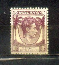 1937 Malaya Malaysia Straits Settlements 10c Mint Hinged CV 30